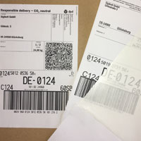 Integrated package label suitable for DPD, DHL, Hermes, Schenker etc.